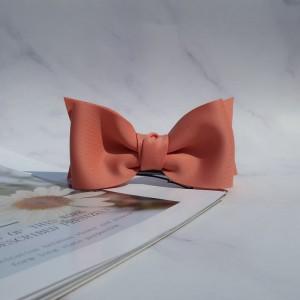LOLIE Cute Bow Clip Dark Pink