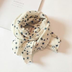 Autumn Linen Scarf White